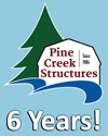 Pine Creek Structures storage sheds features and benefits - 6-year top-to-bottom warranty