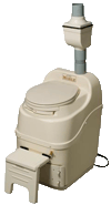 Sun-Mar self contained composting toilet bone color mobile model
